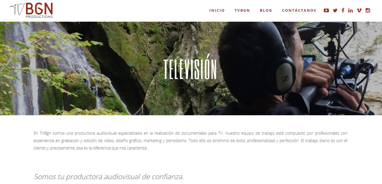 Nueva web Tvbgn